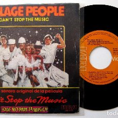 Discos de vinilo: VILLAGE PEOPLE - CAN'T STOP THE MUSIC (QUE NO PARE LA MÚSICA) - SINGLE RCA VICTOR 1980 BPY. Lote 203468790