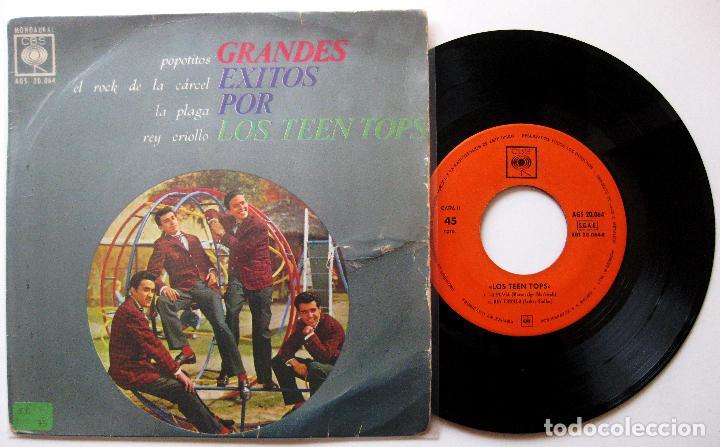 LOS TEEN TOPS - GRANDES EXITOS POR LOS TEEN TOPS - POPOTITOS +3 - EP CBS 1963 BPY (Música - Discos de Vinilo - EPs - Grupos Españoles 50 y 60)