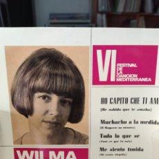 Discos de vinilo: WILMA GOICH / HO CAPITO CHE TI AMO (VI FESTIVAL DE LA CANCION MEDITERRANEA) + 3 (EP 1964). Lote 203486276