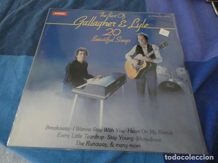 LP GALLAGHER AND LYLE 20 BEAUTIFUL SONGS 1980 MUY BUEN ESTADO (Música - Discos - LP Vinilo - Pop - Rock Internacional de los 50 y 60)