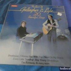 Discos de vinilo: LP GALLAGHER AND LYLE 20 BEAUTIFUL SONGS 1980 MUY BUEN ESTADO. Lote 203515873