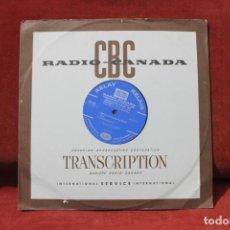 Discos de vinilo: LP RADIO CANADA, TRANSCRIPTION FESTIVAL DE 1968, MONIQUE LAYRAC Y OTROS. Lote 203518880