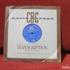 Discos de vinilo: LP RADIO CANADA, TRANSCRIPTION FESTIVAL DE 1968, ORCHESTRA SYMPHONY, RELAY RELAIS. Lote 203519998