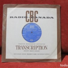 Discos de vinilo: LP RADIO CANADA, TRANSCRIPTION FESTIVAL DE 1968, ORCHESTRA JEAN DESLAURIERS, RELAY RELAIS. Lote 203520152
