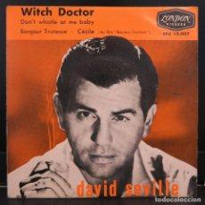 Discos de vinilo: DAVID SEVILLE EP WITH DOCTOR + 3. Lote 203526507