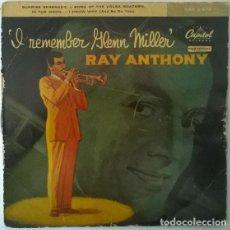 Discos de vinilo: RAY ANTHONY. REMEMBER GLEN MILLER. CAPITOL, SPAIN 1953 EP. Lote 203542022