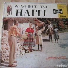 Discos de vinilo: LP A VISIT TO HAITI NEMOURS JN. BAPTISTE SEECO SCLP 9111 USA 1958. Lote 203553575