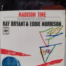 Discos de vinilo: RAY BRYANT&EDDIE MORRISON–MADISON TIME . EP 1963.. Lote 203555677
