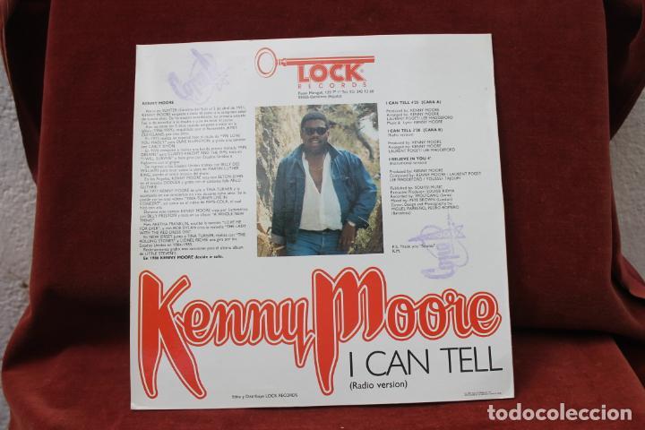 Discos de vinilo: MAXI SINGLE, DISCO SOUND, KENNEY MOORE, I CAN TELL, 1987 PROMO - Foto 2 - 203557432