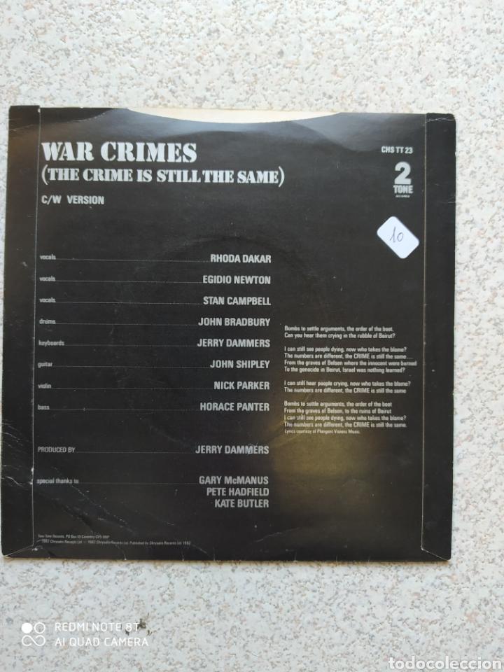Discos de vinilo: Special AKA–War Crimes - Single vinilo edicion UK. Buen estado - Foto 2 - 203559923