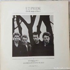 Discos de vinilo: U2, PRIDE (IN THE NAME OF LOVE). MAXI SINGLE ESPAÑA 4 TEMAS. Lote 203561878
