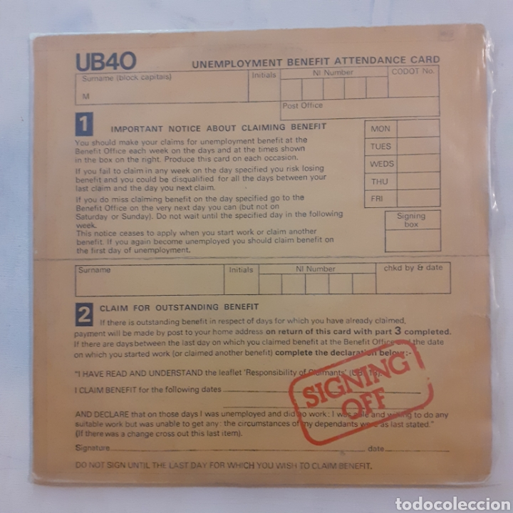 UB40. SIGNING OFF. GRADUATE RECORDS GRADLP 2. 1 LP + 1 MAXISINGLE. UK 1980. (Música - Discos - LP Vinilo - Reggae - Ska)