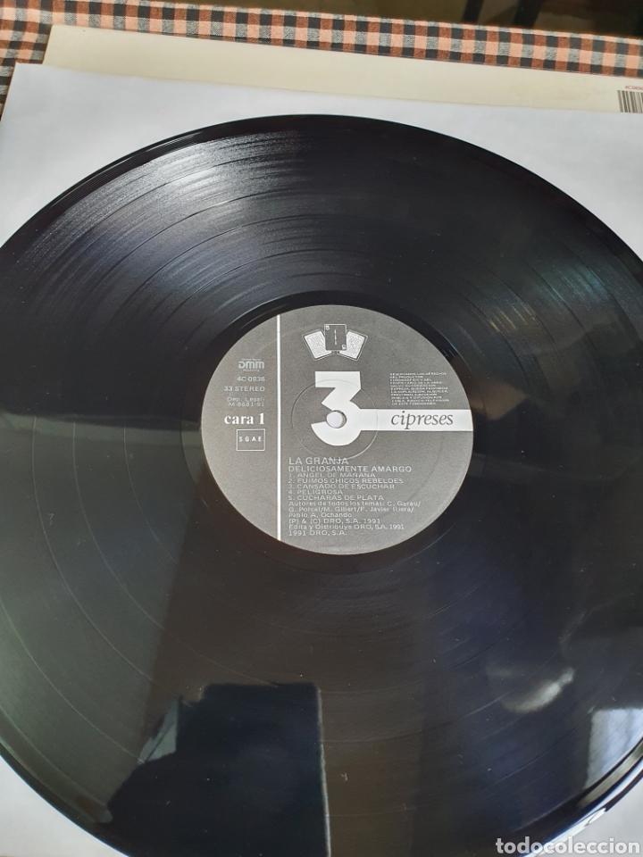Discos de vinilo: La Granja – Deliciosamente Amargo, 3 Cipreses, 4C0836, 1991, Rock, Pop, español. - Foto 4 - 203598556