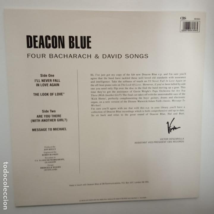 Discos de vinilo: DEACON BLUE- FOUR BACHARACH & DAVID SONG - SPAIN MAXI SINGLE 1990- VINILO COMO NUEVO. - Foto 2 - 203603578