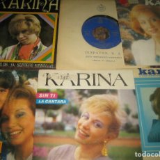 Disques de vinyle: KARINA - LOTE DE 8 SINGLES - VER FOTOS. Lote 203611561