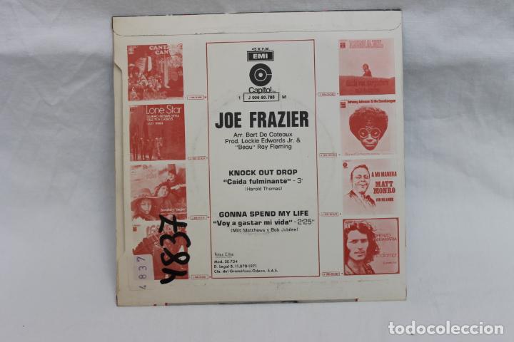 Discos de vinilo: JOE FRAZIER SINGLE KNOCK OUT DROP / 1971 CAPITOL, EMI - Foto 2 - 232270495