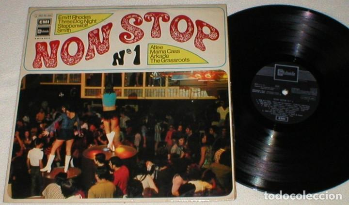 NON STOP Nº1 SPAIN LP 71 EMITT RHODES SMITH ARKADE ATLEE MAMA CASS STEPPENWOLF GRASSROOTS PROG PSYCH (Música - Discos - LP Vinilo - Pop - Rock - Internacional de los 70)