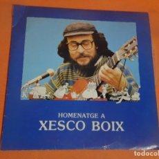Discos de vinilo: DOBLE LP, HOMENATGE A XESCO BOIX , AUDIO VISUALS DE SARRIÁ, VER FOTOS. Lote 203624575