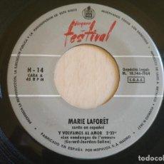Discos de vinilo: MARIE LAFORET - Y VOLVAMOS AL AMOR / CORAZÓN DE OTOÑO - SINGLE POR PRIMERA VEZ EN TODOCOLECCIÓN. Lote 203772246
