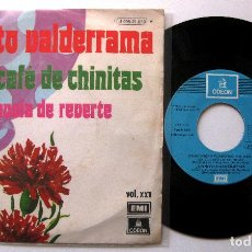 Discos de vinilo: JUANITO VALDERRAMA - EN EL CAFE DE CHINITAS - SINGLE EMI ODEON 1974 BPY. Lote 203779482