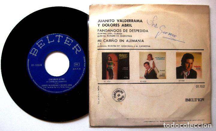 Discos de vinilo: Juanito Valderrama Y Dolores Abril - Fandangos De Despedida - Single Belter 1971 BPY - Foto 2 - 203780175