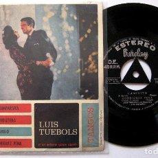 Discos de vinilo: LUIS TUEBOLS Y SU ORQUESTA TÍPICA ARGENTINA - LA CUMPARSITA +3 - EP BARCLAY 1961 BPY. Lote 203782587