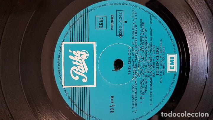Discos de vinilo: Julien Clerc - This melody. Editado por Emi Odeon. año 1.976. viene con la letra de las canciones - Foto 3 - 203790072