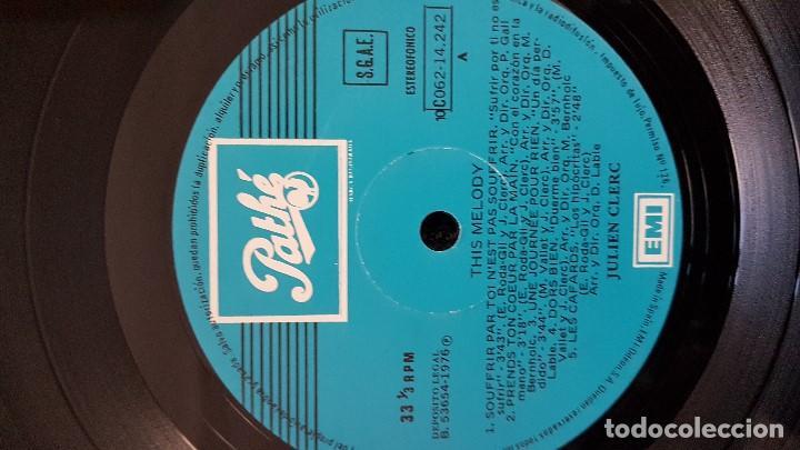 Discos de vinilo: Julien Clerc - This melody. Editado por Emi Odeon. año 1.976. viene con la letra de las canciones - Foto 4 - 203790072