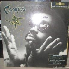 Discos de vinilo: CAMEO - SHE´S STRANGE MAXI DOBLE - CARPETA ABIERTA - MUY RARO. Lote 203797227