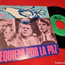 Dischi in vinile: LOS TRES HERNANDEZ 3 REQUIEM POR LA PAZ/TE QUIERO (AZZURRO) 7'' SINGLE 1968 EKIPO PROMO. Lote 203802952