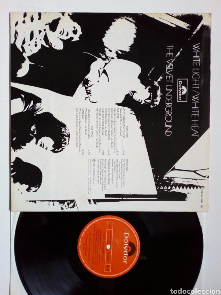 Discos de vinilo: LP: THE VELVET UNDERGROUND - White Light / White Heat (Polydor) - Reedición española de 1980- - Foto 2 - 203804125