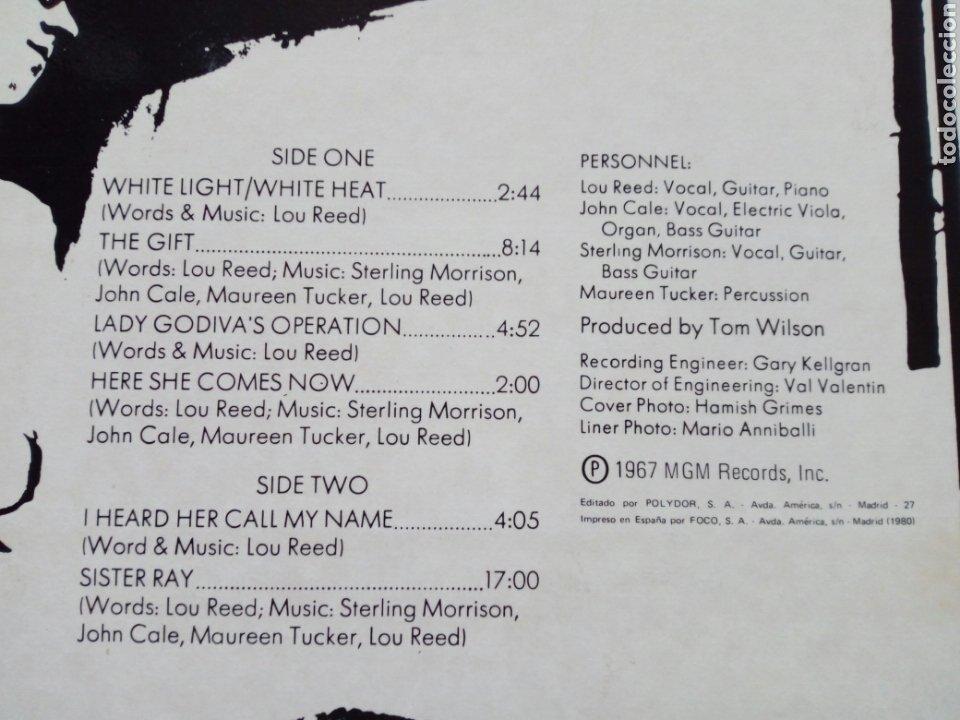 Discos de vinilo: LP: THE VELVET UNDERGROUND - White Light / White Heat (Polydor) - Reedición española de 1980- - Foto 4 - 203804125