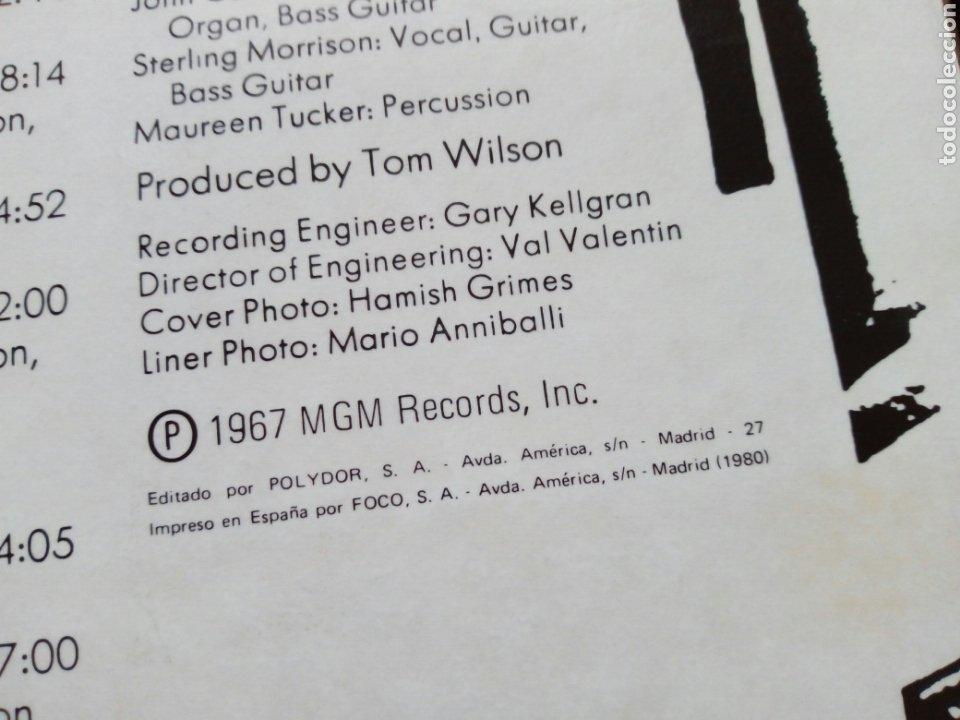 Discos de vinilo: LP: THE VELVET UNDERGROUND - White Light / White Heat (Polydor) - Reedición española de 1980- - Foto 5 - 203804125