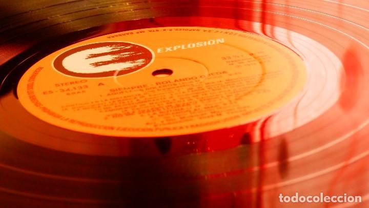 Discos de vinilo: ROLANDO OJEDA * SIEMPRE * NUEVO de 1978 (El Rey del Bolero) * Carpeta Gatefold - Foto 5 - 22456809