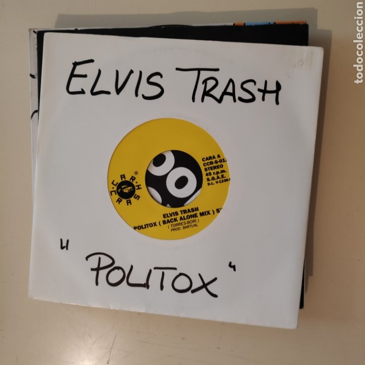 NT ELVIS TRASH - POLITOX 1992 BARTUAL VALENCIA SPAIN SINGLE VINILO (Música - Discos - Singles Vinilo - Techno, Trance y House)