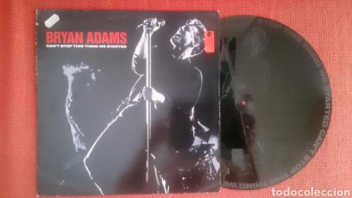 BRYAN ADAMS MAXI CAN'T STOP THIS THING WE STARTED + 2 DE 1991 VINILO SERIGRAFIADO VG+ (Música - Discos de Vinilo - Maxi Singles - Pop - Rock Extranjero de los 90 a la actualidad)