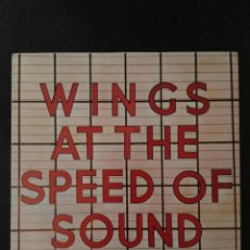 Discos de vinilo: WINGS AT THE SPEED OF SOUND LP ESPAÑA PAUL MCCARTNEY BEATLES. Lote 203817087