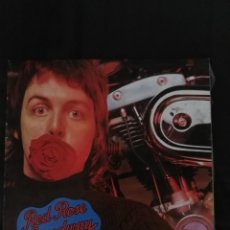 Discos de vinilo: RED ROSE SPEEDWAY WINGS LP ESPAÑA CON LIBRETO PAUL MCCARTNEY BEATLES. Lote 203820038