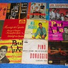 Discos de vinilo: GRAN LOTE 30 SINGLES DISCOS VINILOS EPS AÑOS 1960S POP NACIONAL E INTERNACIONAL PAUL ANKA OFERTA VER. Lote 203826521