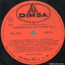 Discos de vinilo: LP LOS GRIEGOS JOHNNY ALCALA SHEAKES FLAMMERS TOÑO QUIRAZCO NO TIENE COVER. Lote 203829101