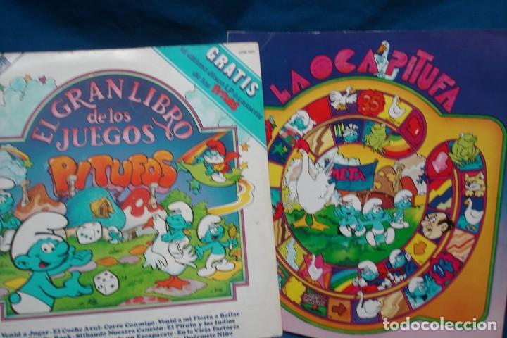 EL GRAN LIBRO DE LOS JUEGOS PITUFOS + JUEGO LA OCA PITUFA - COLUMBIA 1981 (Música - Discos - LPs Vinilo - Música Infantil)