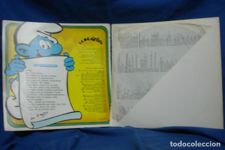 Discos de vinilo: EL GRAN LIBRO DE LOS JUEGOS PITUFOS + JUEGO LA OCA PITUFA - COLUMBIA 1981 - Foto 3 - 203832965