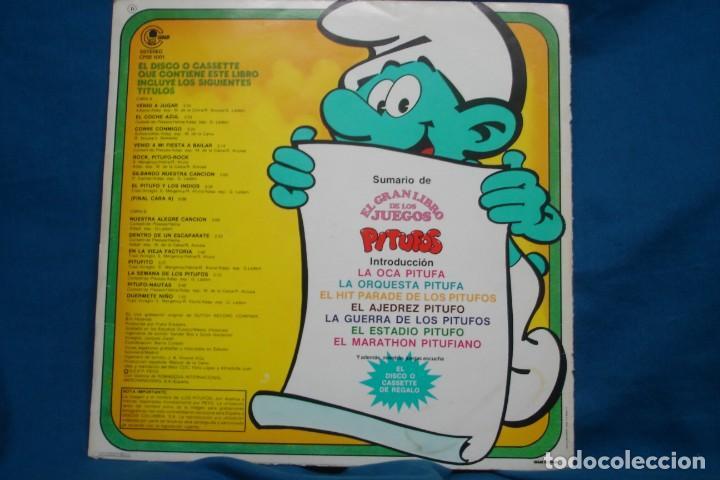 Discos de vinilo: EL GRAN LIBRO DE LOS JUEGOS PITUFOS + JUEGO LA OCA PITUFA - COLUMBIA 1981 - Foto 4 - 203832965
