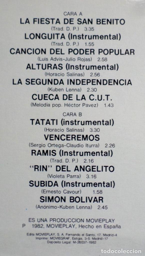 Discos de vinilo: INTI ILLIMANI -- Alturas - Foto 3 - 195318408