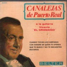 Discos de vinilo: CANALEJAS DE PUERTO REAL - CUANDO TOCAN LAS CAMPANAS / CON SANGRE DE QUIEN TE OFENDA...EP. Lote 236084535