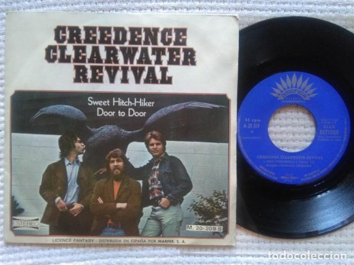 """CREEDENCE CLEARWATER REVIVAL - """" SWEET HITCH-HIKER """" SINGLE 7"""" PROMO SPAIN (Música - Discos - Singles Vinilo - Pop - Rock - Internacional de los 70)"""