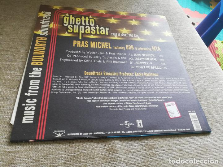 Discos de vinilo: Pras Michel Featuring ODB & Introducing Mya – Ghetto Supastar (That Is What you are). máxi italia - Foto 2 - 203893662