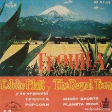Discos de vinilo: EDDIE PLATT / THE ROYAL TEENS - TEQUILA + 1 Y SHORT SHORTS + 1 EP SPAIN 1959 ROCK DOO WOP IMPECABLE. Lote 203893728