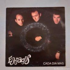 Discos de vinilo: ESTRAGOS. CADA DÍA MÁS... LA HUELLA RECORDS.101-H-003. 1992. FUNDA VG+. DISCO VG++.. Lote 203893747