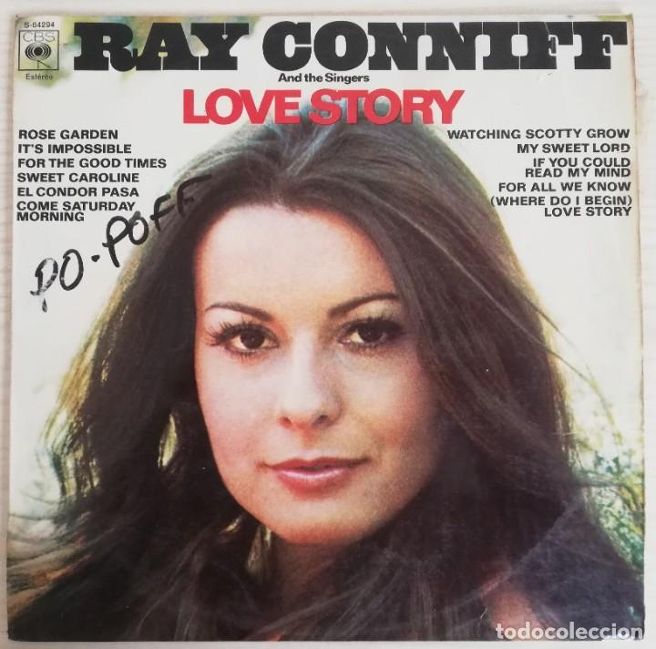 DISCO DE VINILO RAY CONNIF--LOVE STORY-- LP (Música - Discos - LP Vinilo - Pop - Rock - Extranjero de los 70)